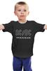 """Детская футболка классическая унисекс """"AC/DC"""" - rock, acdc, back in black"""