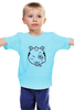 """Детская футболка классическая унисекс """"Забавный Единорог"""" - смайл, smile, unicorn, единорог"""