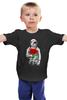 """Детская футболка """"Букет красных роз"""" - цветы, розы, космонавт"""