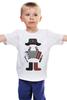 """Детская футболка """"Осторожно, я русский (Русский Хипстер)"""" - русский, водка, russian, ушанка, русский хипстер"""
