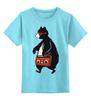 """Детская футболка классическая унисекс """"Медведь с магнитофоном"""" - bear, медведь, магнитофон"""