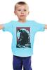 """Детская футболка классическая унисекс """"Godzilla gray"""" - фильмы, динозавры, годзилла, godzilla, kinoart"""