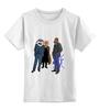 """Детская футболка классическая унисекс """"деловые мужчины"""" - лис, fox, animals, акула, shark, well dressed, business men"""