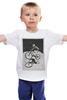 """Детская футболка классическая унисекс """"девушка на велосипеде"""" - спорт, bmx, велосипед, street, bike, стрит, biking, велоспорт, девушка на велосипеде, дерт"""
