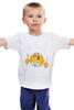 """Детская футболка классическая унисекс """"смайлик"""" - смайлик"""