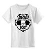 """Детская футболка классическая унисекс """"КРЕПКОЕ ТЕЛО!"""" - красота, сила, спортзал, тренинг"""