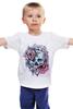 """Детская футболка классическая унисекс """"Череп"""" - skull, череп, цветы, roses"""