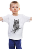 """Детская футболка классическая унисекс """"арт филин"""" - авторские майки"""