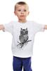 "Детская футболка ""арт филин"" - авторские майки"