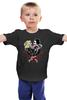 """Детская футболка классическая унисекс """"love kills slowly"""" - oldshool, rocabilly, psycobilly, sculls"""
