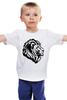 """Детская футболка классическая унисекс """"proud lion """" - лев, lion"""