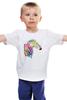 """Детская футболка классическая унисекс """"My zebra"""" - животные, зебра, zebra, полосы, цветнаязебра, животные полосы"""