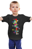 """Детская футболка классическая унисекс """"Сердечки"""" - любовь, день святого валентина, сердечки, валентинки"""
