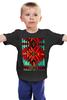 """Детская футболка """"Индеец"""" - красный, орнамент, зеленый, индейский ковер"""
