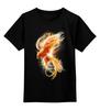 """Детская футболка классическая унисекс """"Феникс"""" - огонь, абстракция, феникс, phoenix"""