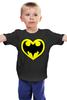"""Детская футболка классическая унисекс """"Я люблю Бэтмена"""" - комиксы, batman, супергерои, бэтмен, человек-летучая мышь"""