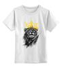 """Детская футболка классическая унисекс """"Король Лев"""" - корона, лев, царь зверей, животные"""