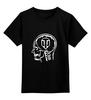 """Детская футболка классическая унисекс """"Skull WOT"""" - прикол, games, игры, игра, game, brain, логотип, world of tanks, танки, wot"""