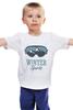 """Детская футболка """"Зимний Спорт (Winter Sport)"""" - очки, горы, лыжи, сноуборд, snowboard"""