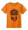 """Детская футболка классическая унисекс """"PSYSCULL"""" - череп, scull, оранжевый, orange, психоделика, оранж"""