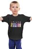 "Детская футболка классическая унисекс ""My Little Pony Characters"" - rainbow dash, my little pony, applejack, friendship is magic, fluttershy"