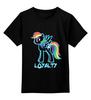 """Детская футболка классическая унисекс """"MLP Neon Rainbow Dash"""" - pony, mlp, magic, loyalty, friendship"""