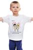 "Детская футболка классическая унисекс ""love is..."" - love is, smile"
