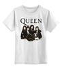 """Детская футболка классическая унисекс """"Queen group"""" - queen, rock music, freddie mercury, куин, фредди меркьюри"""