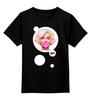 """Детская футболка классическая унисекс """"Мэрилин Монро"""" - арт, мэрилин монро, marilyn monroe, bubble gum, жевачка"""