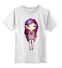 """Детская футболка классическая унисекс """"Девушка космос"""" - девушка, space, космос, принцесса, милота"""