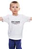 """Детская футболка классическая унисекс """"DON'T BLINK"""" - doctor who, доктор кто, don't blink"""