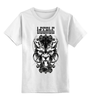 """Детская футболка классическая унисекс """"Lycanthrope"""" - арт, мандала, волк, оборотень, wolf, werewolf, вензель, mandala"""