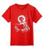 """Детская футболка классическая унисекс """"devil"""" - черепа, skulls, демон, сатана, черт"""