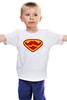 """Детская футболка классическая унисекс """"Супермен-усач-бородач"""" - супермен, superman, борода, усы, бородач"""