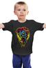 "Детская футболка классическая унисекс ""Zombie "" - зомби, монстр, жуть, зубы, 13, хоррор, halowen, hallowin, халовин, хэлоуин"