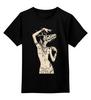 """Детская футболка классическая унисекс """"Девушка с черепом оленя"""" - skull, череп, арт, девушка, animal, deer"""
