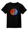 """Детская футболка классическая унисекс """"Yin Yang"""" - yin yang, инь и янь, инь янь, орёл, тигр"""