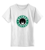 """Детская футболка классическая унисекс """"Batman Coffee"""" - пародия, batman, кофе, starbucks, старбакс"""