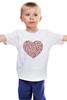 """Детская футболка """"Сердца в сердце серая"""""""