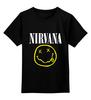 """Детская футболка классическая унисекс """"Nirvana """" - гранж, супер, арт, nirvana, стиль, kurt cobain, логотип"""