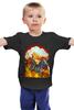 """Детская футболка классическая унисекс """"Ким Чен Ын на единороге апокалипсиса"""" - единорог, ядерный взрыв, ким чен ын, знакитусовок"""