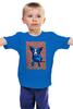 """Детская футболка классическая унисекс """"Синий Пес"""" - сердце, любовь, собака, синий пес, blue dog"""