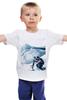 """Детская футболка классическая унисекс """"Сноуборд"""" - горы, сноуборд, snowboard, mountains"""