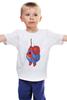"""Детская футболка классическая унисекс """"Fat Spiderman"""" - spider-man, человек-паук, обжорство, спайдермен"""