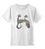 """Детская футболка классическая унисекс """"Яркий геккон"""" - gecko, геккон, ярко"""