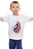 "Детская футболка классическая унисекс ""Капитан-Америка"" - комиксы, марвел, капитан америка"