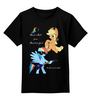 """Детская футболка классическая унисекс """"Rainbow Jack"""" - pony, rainbow dash, mlp, my little pony, пони, brony, applejack, мой маленький пони, брони"""