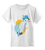 """Детская футболка классическая унисекс """"Wolf teen"""" - волк, wolf, furry"""