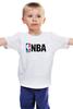 """Детская футболка классическая унисекс """"National Basketball Association"""" - баскетбол, nba, нба"""