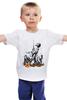 """Детская футболка классическая унисекс """"Боец и радостные дети"""" - праздник, ссср, россия, победа, 9 мая"""